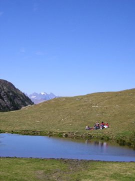 Lake near to Le Col Agnel