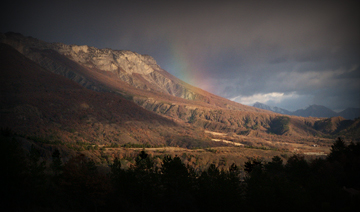 Rainbow in the Alps
